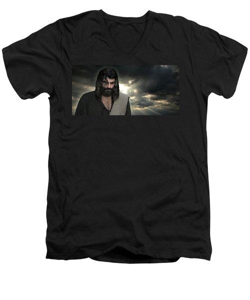 Jesus- Will You Hear Me Shout Come Up Men's V-Neck T-Shirt