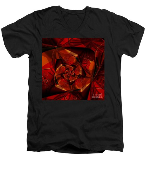Men's V-Neck T-Shirt featuring the digital art Jewel by Michelle H