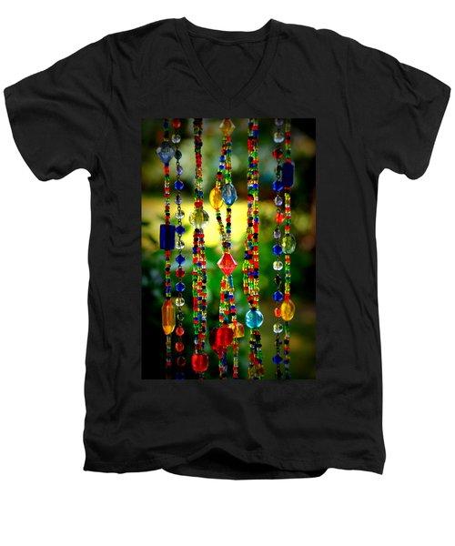 Jewels In The Sun Men's V-Neck T-Shirt by Debra Martz
