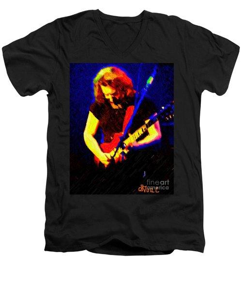 Stella Blue Men's V-Neck T-Shirt by Susan Carella