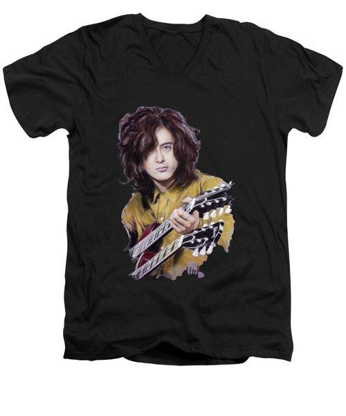 Jimmy Page 1 Men's V-Neck T-Shirt
