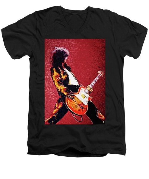 Jimmy Page  Men's V-Neck T-Shirt
