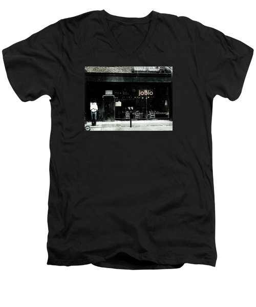 Joblo Men's V-Neck T-Shirt by Reb Frost