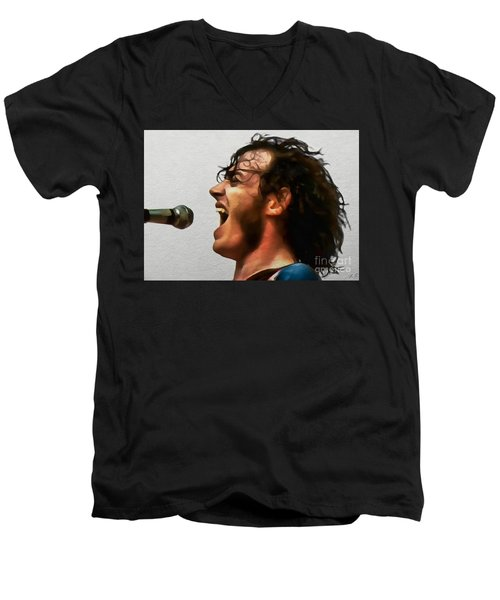 Joe Cocker 01 Men's V-Neck T-Shirt