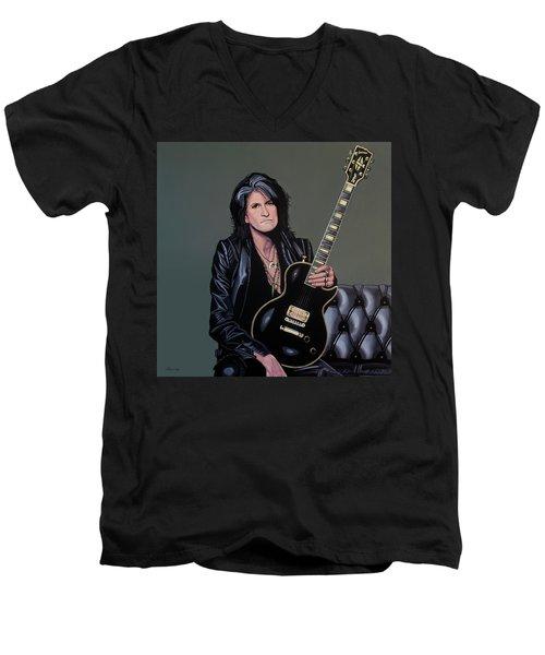 Joe Perry Of Aerosmith Painting Men's V-Neck T-Shirt