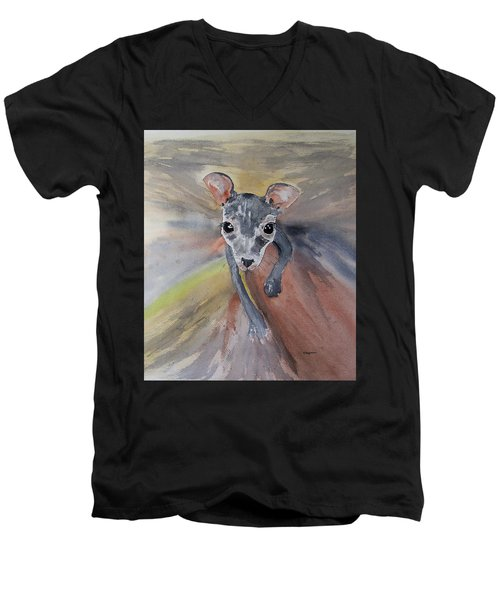 Joey In Mums Pouch Men's V-Neck T-Shirt