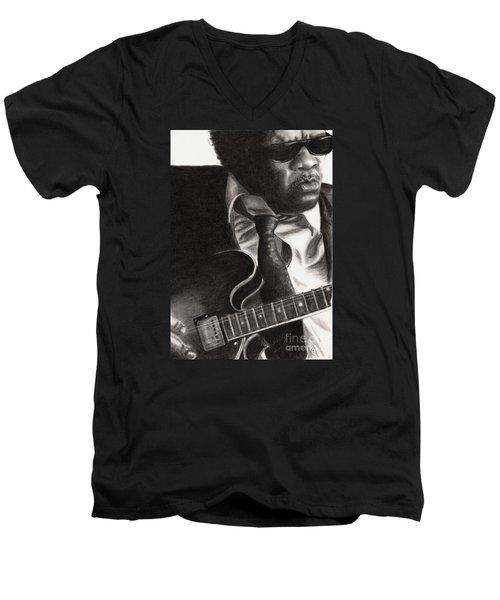 John Lee Hooker Men's V-Neck T-Shirt