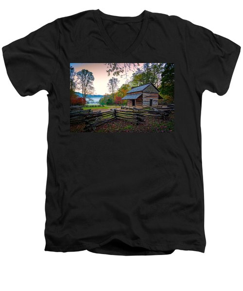 John Oliver Place In Cades Cove Men's V-Neck T-Shirt
