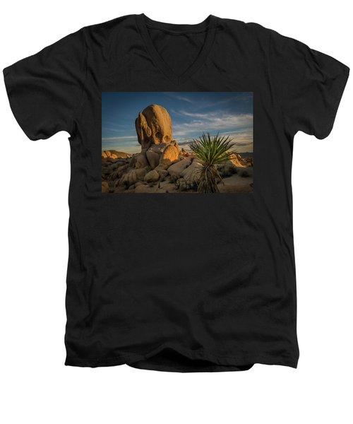Joshua Tree Rock Formation Men's V-Neck T-Shirt