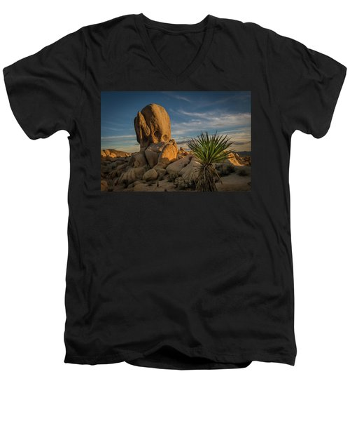 Joshua Tree Rock Formation Men's V-Neck T-Shirt