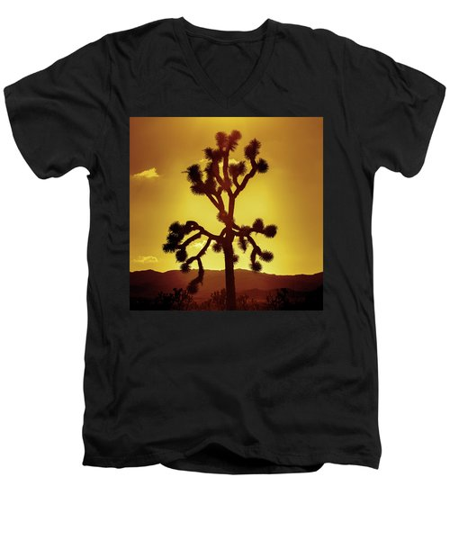 Men's V-Neck T-Shirt featuring the photograph Joshua Tree by Stephen Stookey