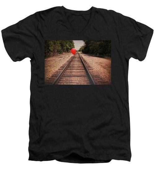 Men's V-Neck T-Shirt featuring the photograph Journey by Tom Mc Nemar