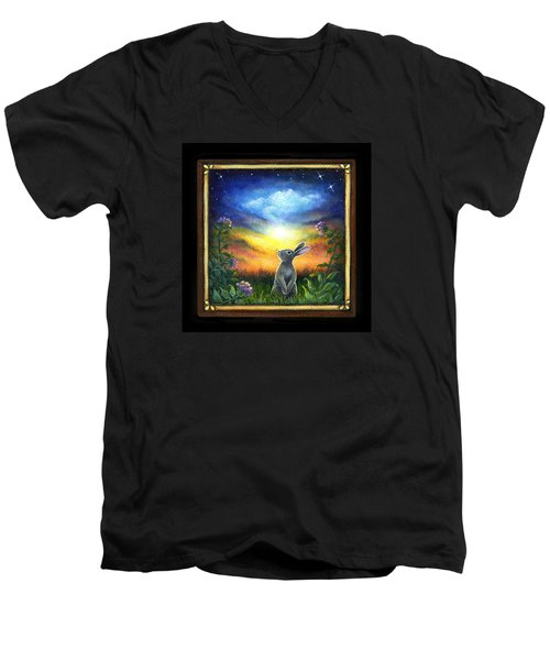 Joy Comes In The Morning Men's V-Neck T-Shirt by Retta Stephenson