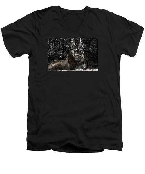 Joy Of Life Men's V-Neck T-Shirt by Edgar Laureano