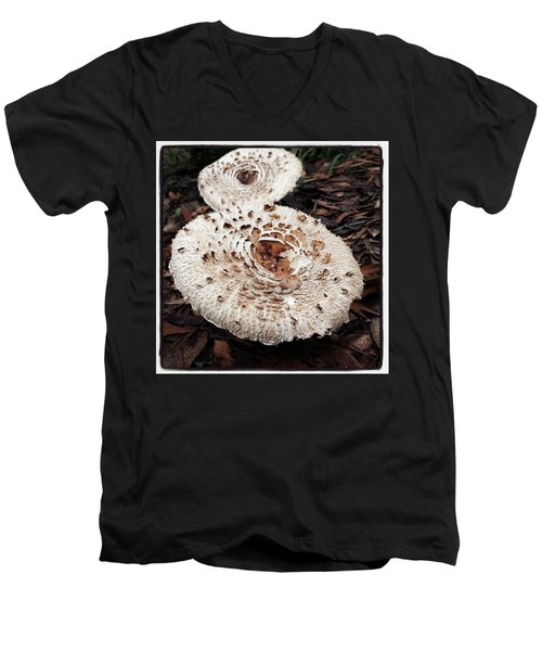 Men's V-Neck T-Shirt featuring the photograph Joy Walking In The Woods by Mr Photojimsf