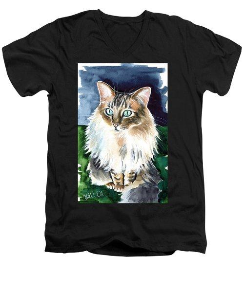 Juju - Cashmere Bengal Cat Painting Men's V-Neck T-Shirt