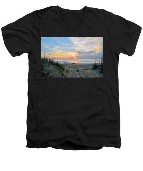 June 2, 2017 Sunrise Men's V-Neck T-Shirt