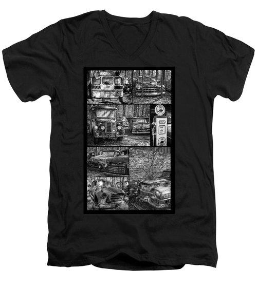 Junk Yard Cars Men's V-Neck T-Shirt