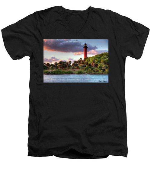 Jupiter Lighthouse Men's V-Neck T-Shirt