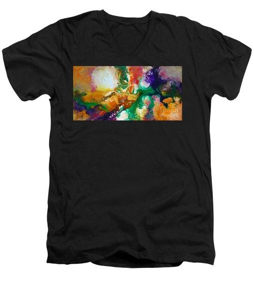 Jupiters Moons Men's V-Neck T-Shirt