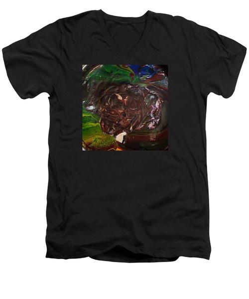 Just A Freakin' Mess Men's V-Neck T-Shirt by Gyula Julian Lovas