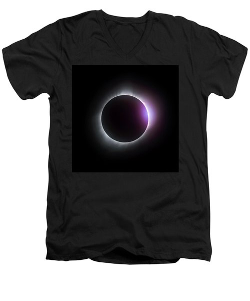 Just After Totality - Solar Eclipse August 21, 2017 Men's V-Neck T-Shirt