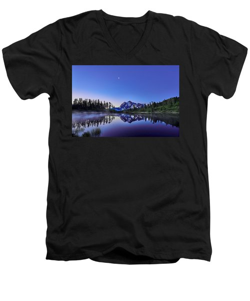 Men's V-Neck T-Shirt featuring the photograph Just Before The Day by Jon Glaser