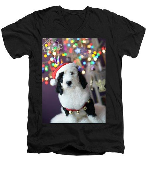 Just Believe Men's V-Neck T-Shirt by Linda Mishler
