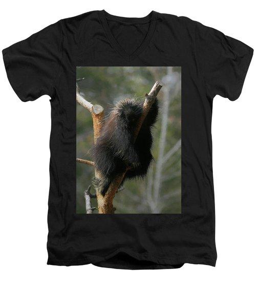 Men's V-Neck T-Shirt featuring the digital art Just Chillin by Ernie Echols