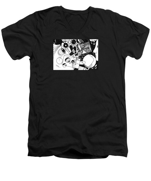Just In Time Men's V-Neck T-Shirt by Helena Tiainen