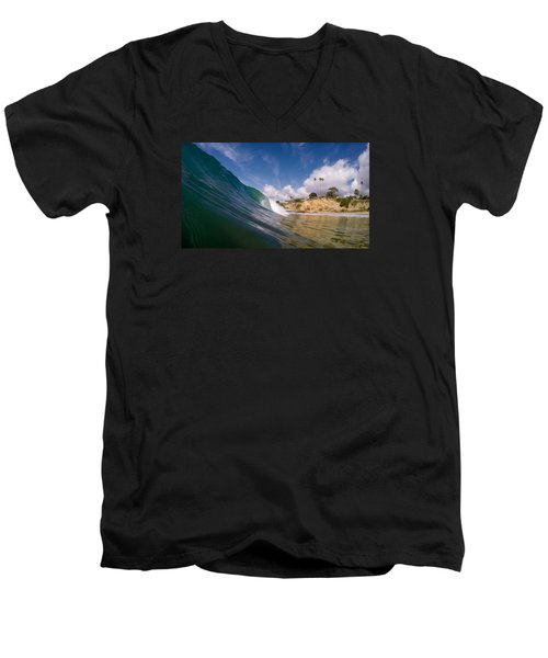 Just Me And The Waves Men's V-Neck T-Shirt by Sean Foster