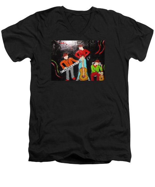 Just Rippin It Men's V-Neck T-Shirt by Sharyn Winters