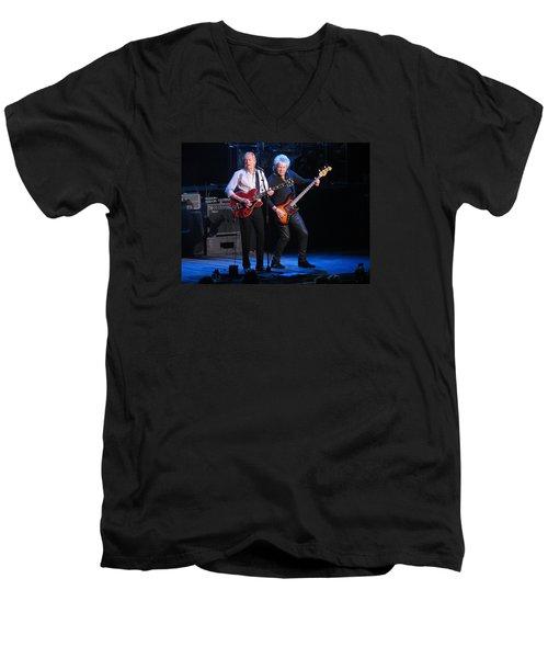 Justin And John In Concert 2 Men's V-Neck T-Shirt by Melinda Saminski