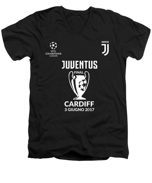 Juventus Final Champions League Cardiff 2017 Men's V-Neck T-Shirt by Ipoy Juki