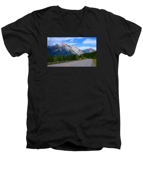 Kananaskis Country Men's V-Neck T-Shirt by Heather Vopni