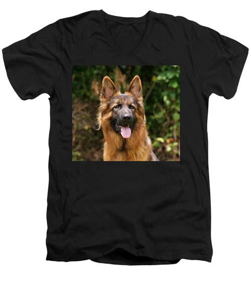 Kaiser - German Shepherd Men's V-Neck T-Shirt