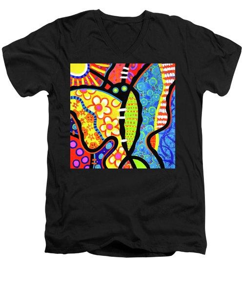 Kaleidoscope Butterfly Men's V-Neck T-Shirt