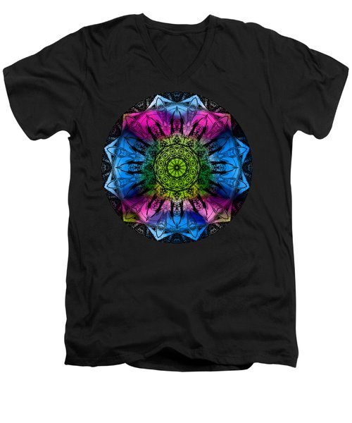 Kaleidoscope - Colorful Men's V-Neck T-Shirt