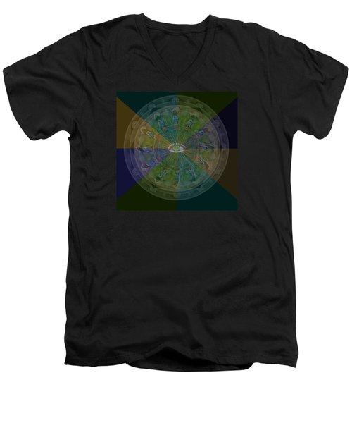 Kaleidoscope Eye Men's V-Neck T-Shirt