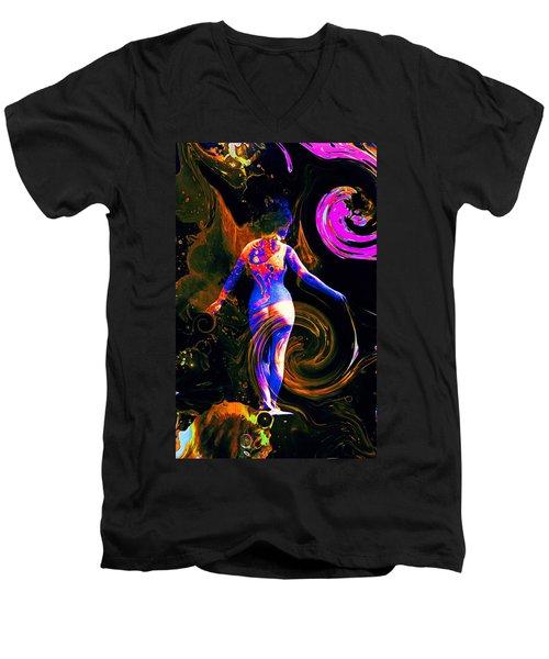Kaleidoscope Eyes... Men's V-Neck T-Shirt