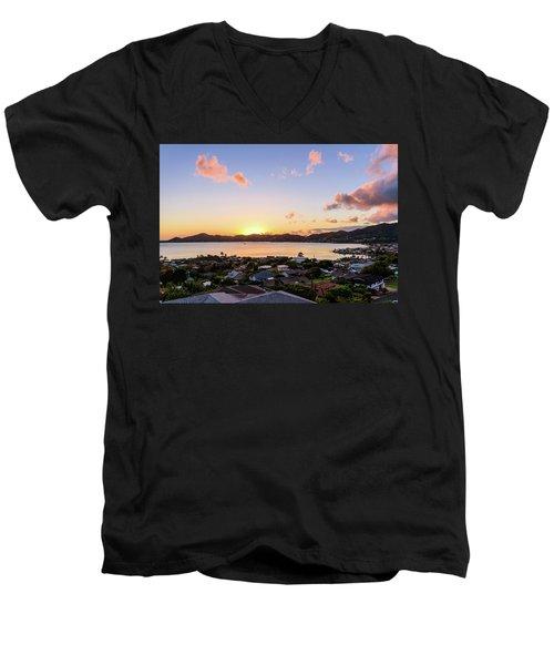 Kaneohe Bay Sunrise 1 Men's V-Neck T-Shirt