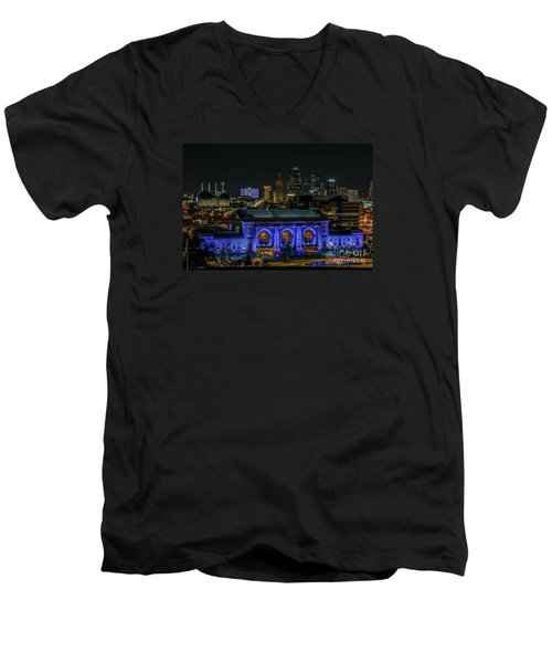 Kansas City In Royal Blue Men's V-Neck T-Shirt