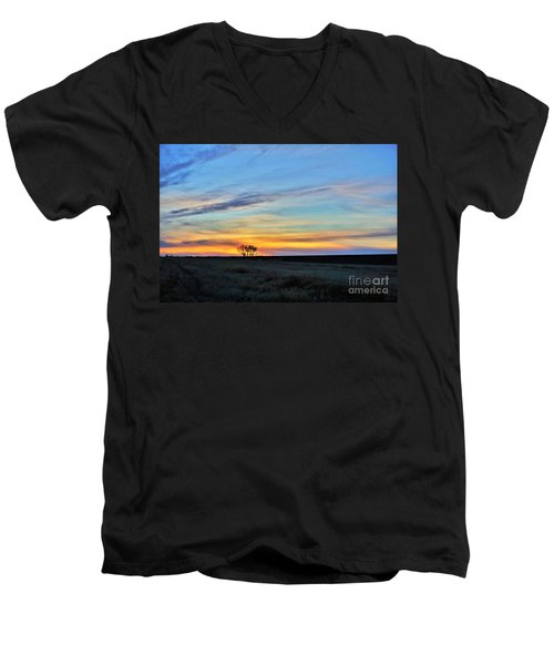 Kansas Sunrise1 Men's V-Neck T-Shirt