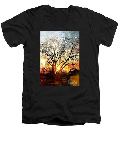 Kansas Sunset Men's V-Neck T-Shirt