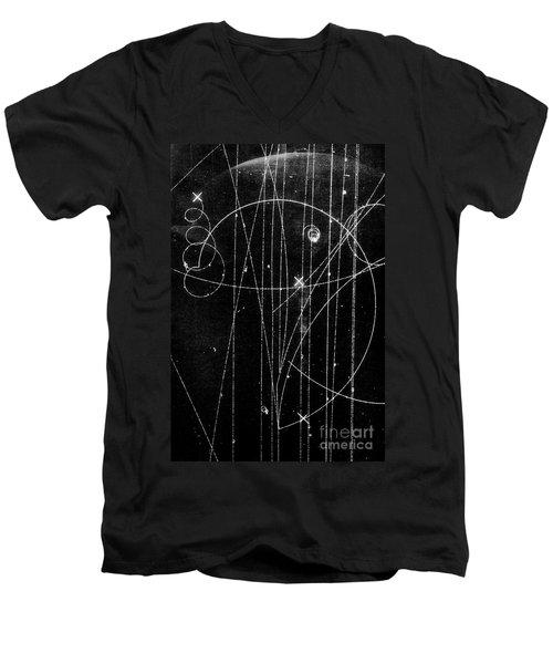Kaon Proton Collision Men's V-Neck T-Shirt by SPL and Photo Researchers
