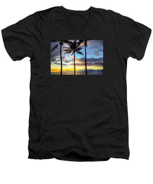 Kapalua Dream Men's V-Neck T-Shirt by Kelly Wade