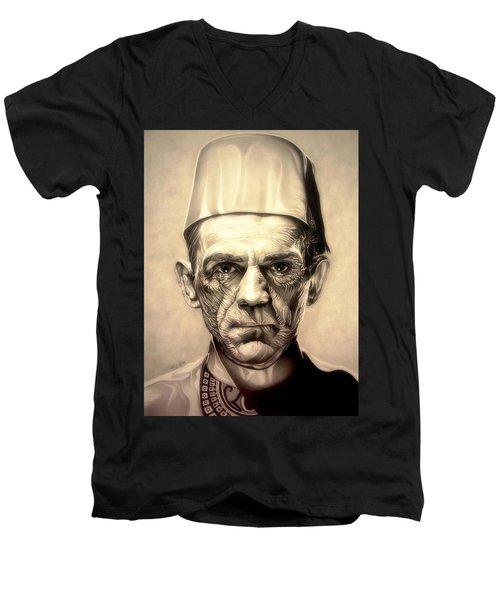 Karloff Men's V-Neck T-Shirt by Fred Larucci