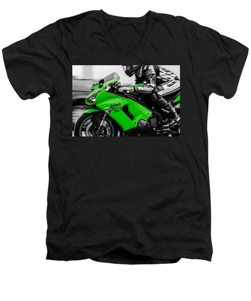 Kawasaki Ninja Zx-6r Men's V-Neck T-Shirt