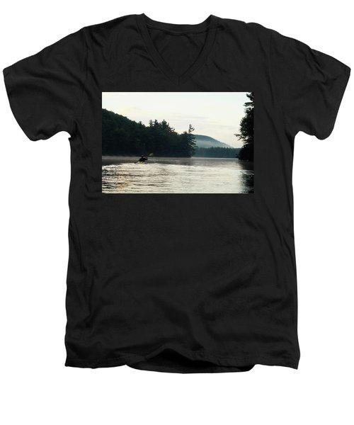 Kayak In The Fog Men's V-Neck T-Shirt