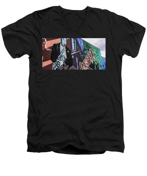 Kc Mural 1 Men's V-Neck T-Shirt